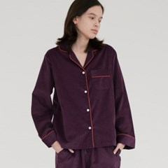 [w] Purple Corduroy Pajama Set