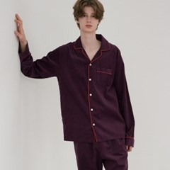 [m] Purple Corduroy Pajama Set