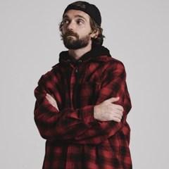 VINTAGE check shirts jacket_RED