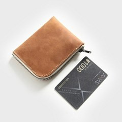 남자 여자 6컬러 동전 지폐 카드 심플 소가죽 지갑