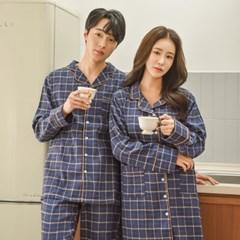 스텐다드 기모 커플 파자마세트 홈웨어 원피스잠옷