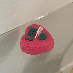하트 이니셜 케이크 캔들 11color 4scent