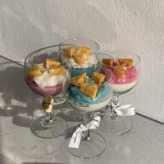 치즈 와인잔 캔들 4type 4scent