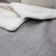 거즈 양털 블랭킷 gray