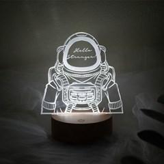 문구제작 우주인 LED 투명 아크릴 무드등