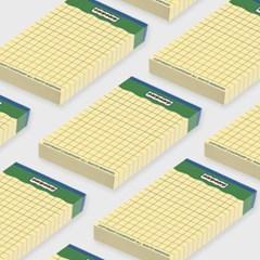 signature yellow point memo pad-green(떡메모지)_(1352425)