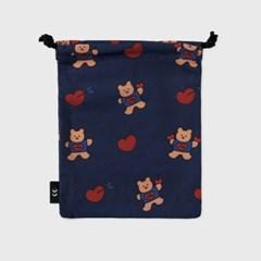 bear heart-navy(스트링 파우치)_(1352493)