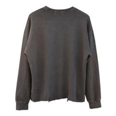 pigment damage crop sweatshirt (charcoal)