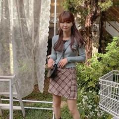 [palette♡] 체크랩 skirt