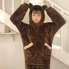 곰돌이 극세사 수면 잠옷