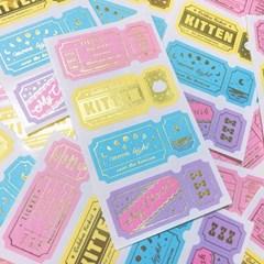 반짝반짝 티켓 Golden Pastel 칼선 스티커