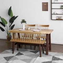 [오크] M형 식탁/테이블 세트 투톤컬러_(1405051)