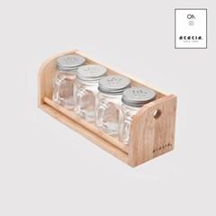 손잡이 양념통 4P세트 양념선반 주방용품