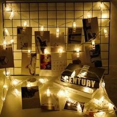 [반짝조명] LED 사진 집게 가랜드 줄조명
