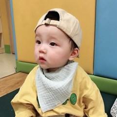 꿈두부 유아 삼중 거즈 남아 3종세트 사계절 아기 스카프빕