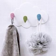 구름 디자인 벽부착식 걸이1개