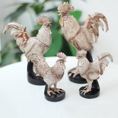 골드 펄 빈티지 닭 2P세트 2size