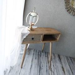 빈티지 라탄 사이드 테이블