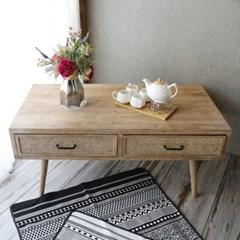 빈티지 라탄 소파 테이블