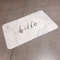 미끄럼방지 마블 주방 욕실 발매트