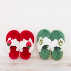 [리빙프로젝트] 겨울용 과일 털슬리퍼 (키즈)
