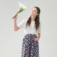 [클라모드] 파스텔 프릴 앞치마 스커트