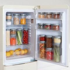 퓨어데일 냉장고 정리용기 250ml 4개(라벨,세척솔증정)
