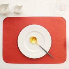 아르떼펠레 벨벳 양면 테이블매트 네이비/오렌지 1P