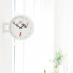 [타임데코] 모던 양면벽시계 - 고양이