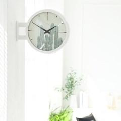 [타임데코] 모던 양면벽시계 - 선인장