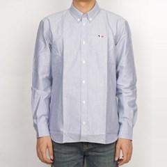 19FW 메종키츠네 트리컬러 폭스 옥스퍼드 셔츠 (남성/네이비) AM0040