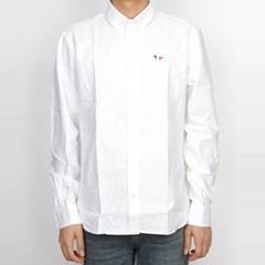 19FW 메종키츠네 트리컬러 폭스 옥스퍼드 셔츠 (남성/화이트) AM0040