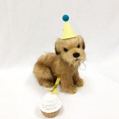 핸드메이드 고양이 고깔 모자 / 강아지 생일 고깔모자