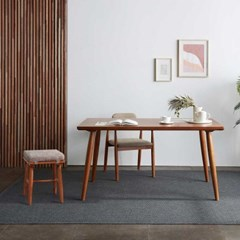 리치 4/6인용 원목 식탁테이블 1500세트(벤치1개 , 스툴2개 포함)