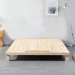 [리코베로]대청마루 소나무원목 평상형 저상침대 슈퍼싱글