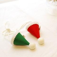 핸드메이드 크리스마스 고양이 고깔 모자 / 강아지 고깔모자
