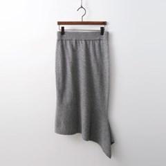 Cashmere N Wool Unbal Skirt