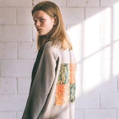 [Patchwork Sweatshirt] Khaki