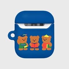 Smart bear friends-blue(Hard air pods)_(1369714)
