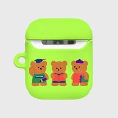 Smart bear friends-green(Hard air pods)_(1369711)