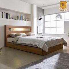 방카증정 오로라2 LED 수납형 슈퍼싱글 침대 SS+독립 매트