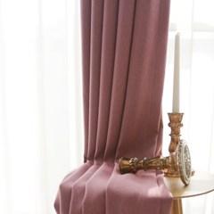 소프트터치 암막커튼-핑크