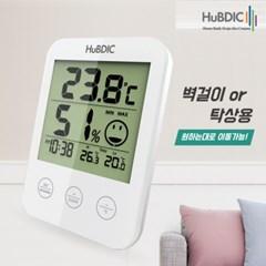 휴비딕 디지털 온습도계 HT-7 시계 아이콘 표시_(1379737)