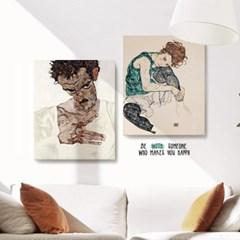 캔버스 명화 그림 대형 인테리어 액자 에곤 쉴레 no.23