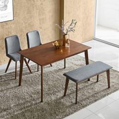텐스페이스 레그노 1200 원목 식탁+벤치+에펠체어 세트 LEG05