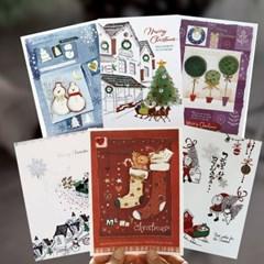 크리스마스카드FS156/152s-234(6종)