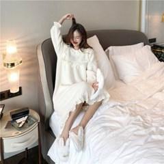 뽀글이 프릴 수면원피스 극세사잠옷