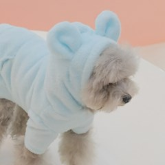 Teddy Bear Fur Hoodie (Skyblue)