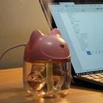 고양이캐릭터 원룸 사무실 탁상용 미니 무드등가습기