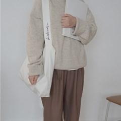 보누르 원스트랩 에코백 - white